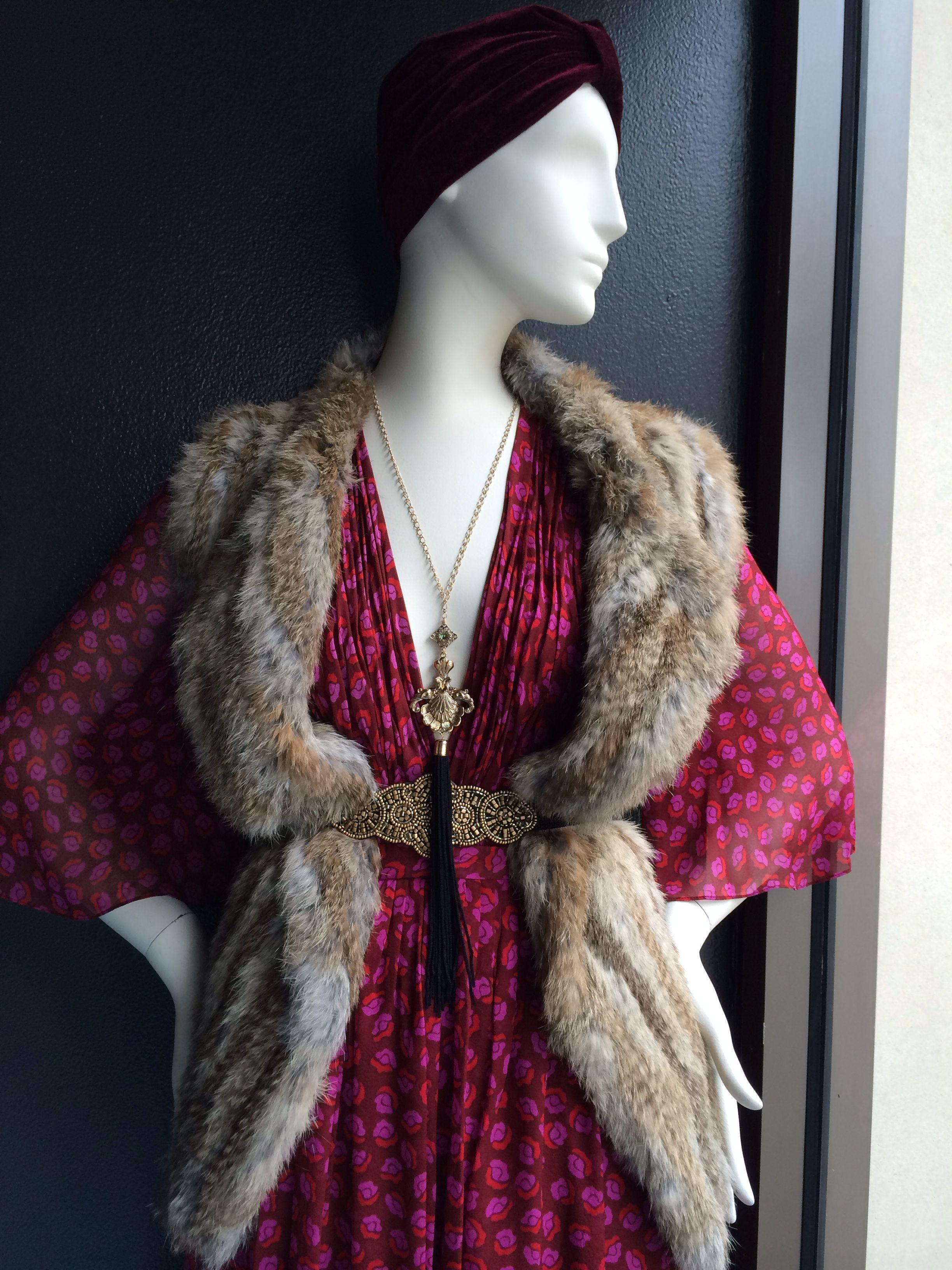 Left Bank Luxe *Ruby Red *Jewel Tone *Fur Accessories *Tassel