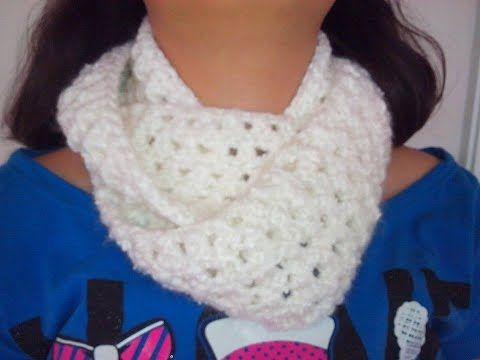 Bufanda infinita en punto peruano a Crochet- Knitting infinity scarf ...
