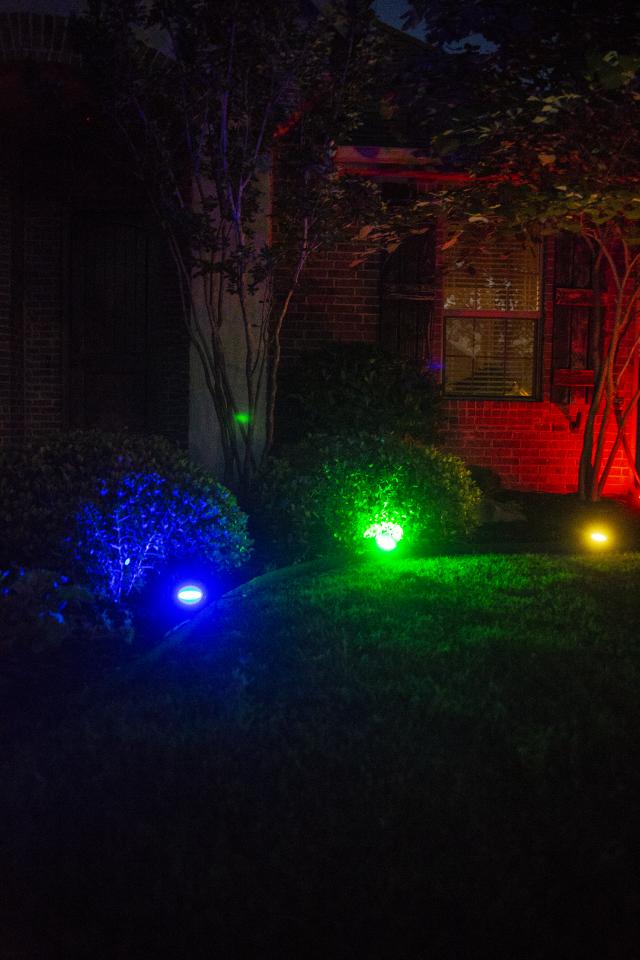 led color changing landscape lights