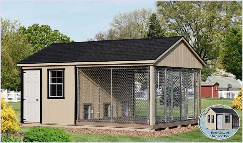 12x18 triple kennel for the home dogs dog kennel designs dog rh pinterest com