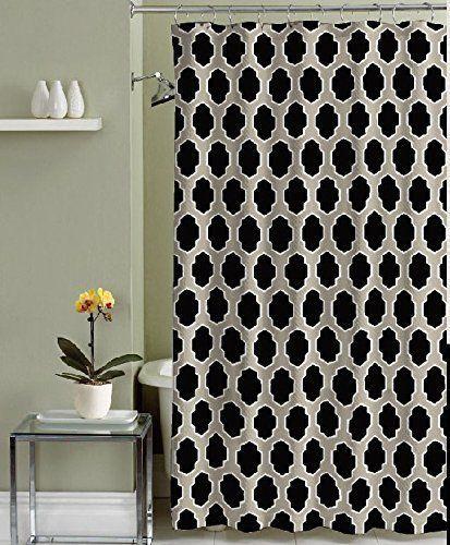 black taupe white moroccan geometric cumberland fabric shower rh pinterest com
