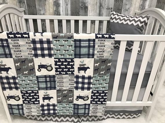 Baby Boy Nursery Set , Baby/Toddler Blanket , Farm ...