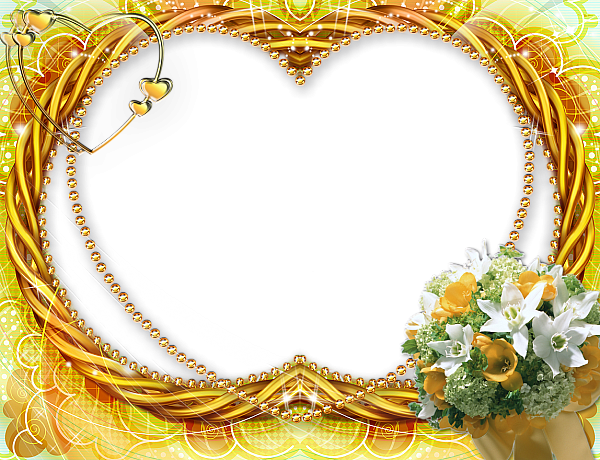 Yellow Flower Transparent Frame | PNG Frames/ Borders/Clipart ...