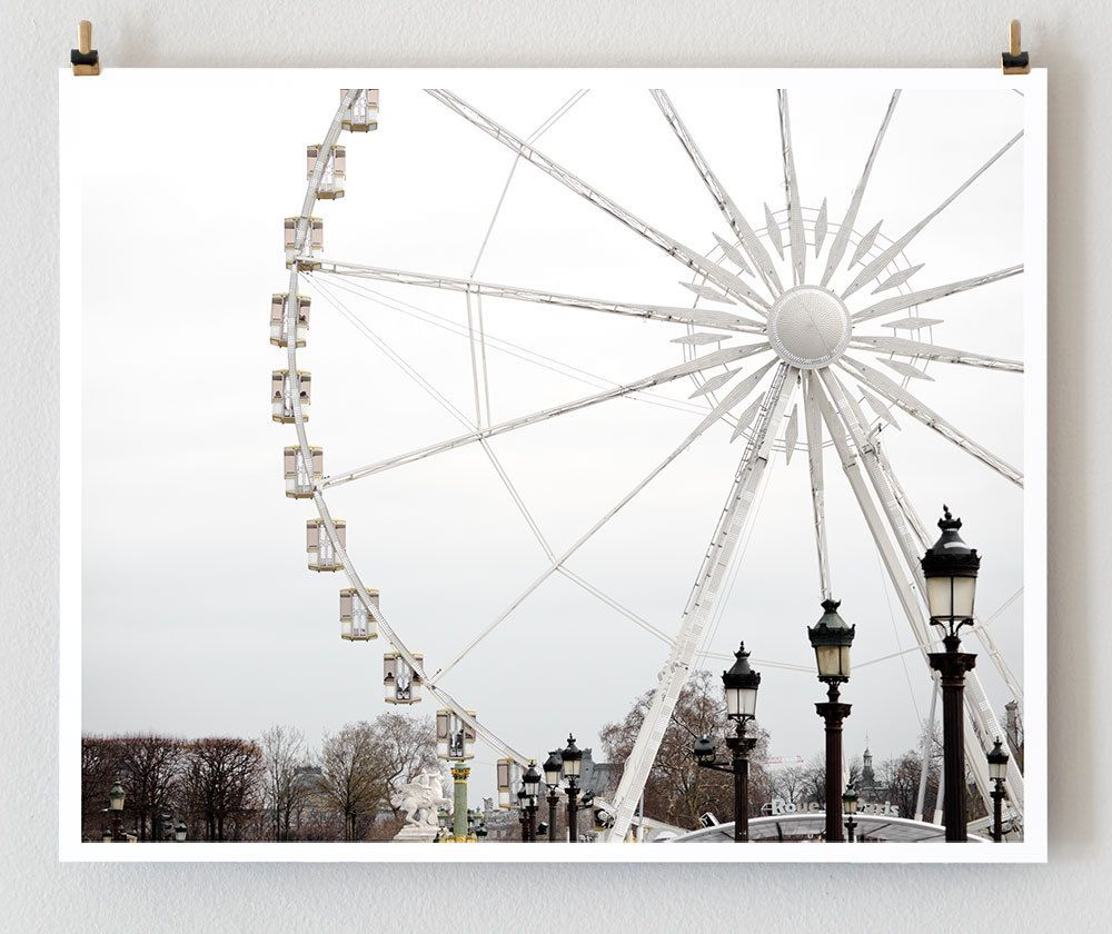 Clearance Wall Art clearance, paris photography, ferris wheel - french art prints