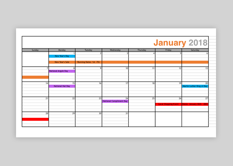 Amazing Get Your Free Marketing Promotional Calendar Template