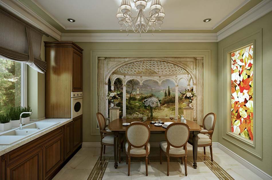 Salle à manger design dans un petit appartement de ville moderne ...