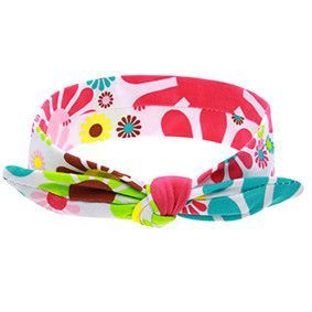 New Cool Cotton Cute Baby Headband Elastic Node Print Tan Disassemble And Make A Child