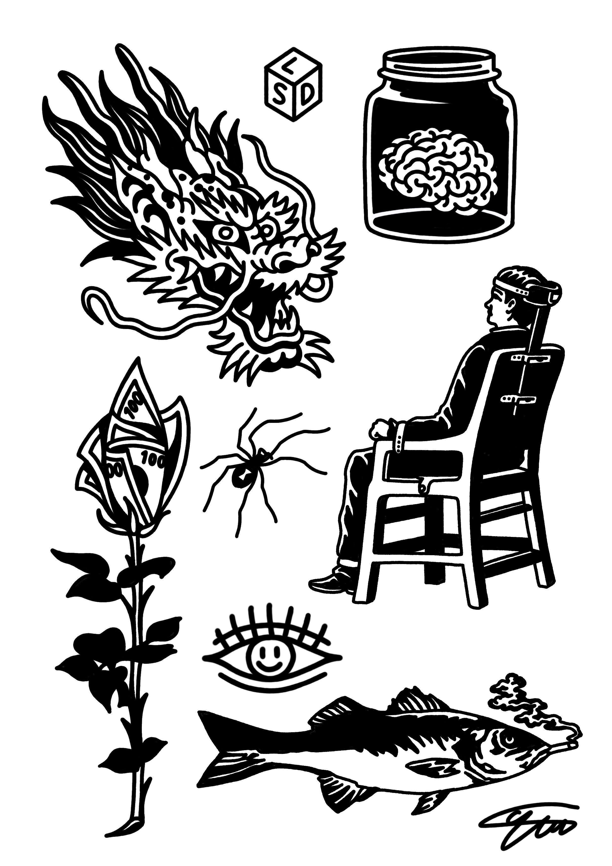 Bocetos De Tatuajes Tradicionales pin de el tincho en tatoo | tatuajes raros, bocetos tatuajes
