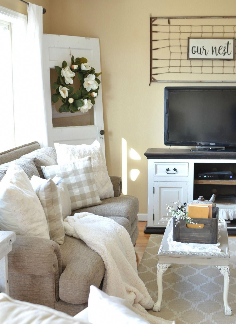 refreshed modern farmhouse living room early spring decor ideas rh ar pinterest com