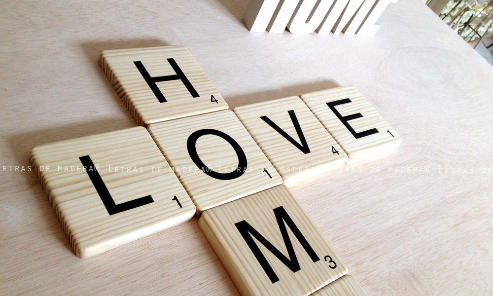 Scrabble letras de madera maciza. Visite nuestra tienda online.
