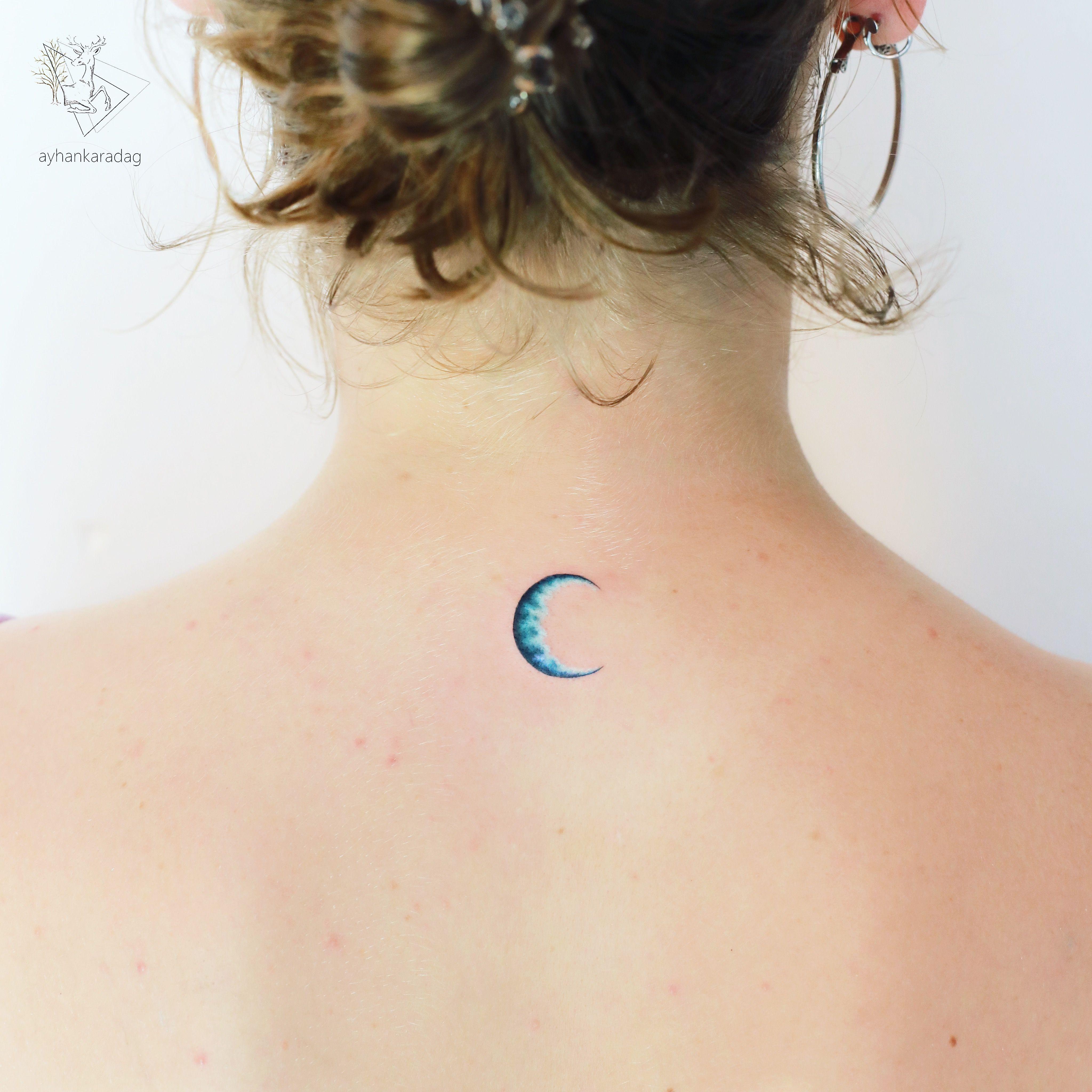 Pin by Lyssa Estrada on Tatts | Minimal tattoo design. Moon tattoo. Blue moon tattoo