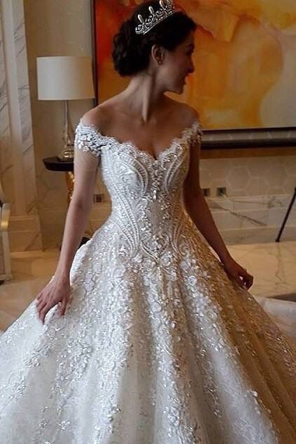 Swarovski Crystals Wedding Dress Bling Luxury