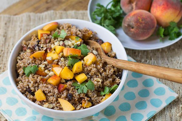 Bulgur with Peaches : with honey