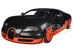 Bugatti Veyron Super Sport Carbon Fiber Black Orange 1 18 By Autoart 70936 Bugatti Veyron Super Sport Bugatti Veyron Veyron