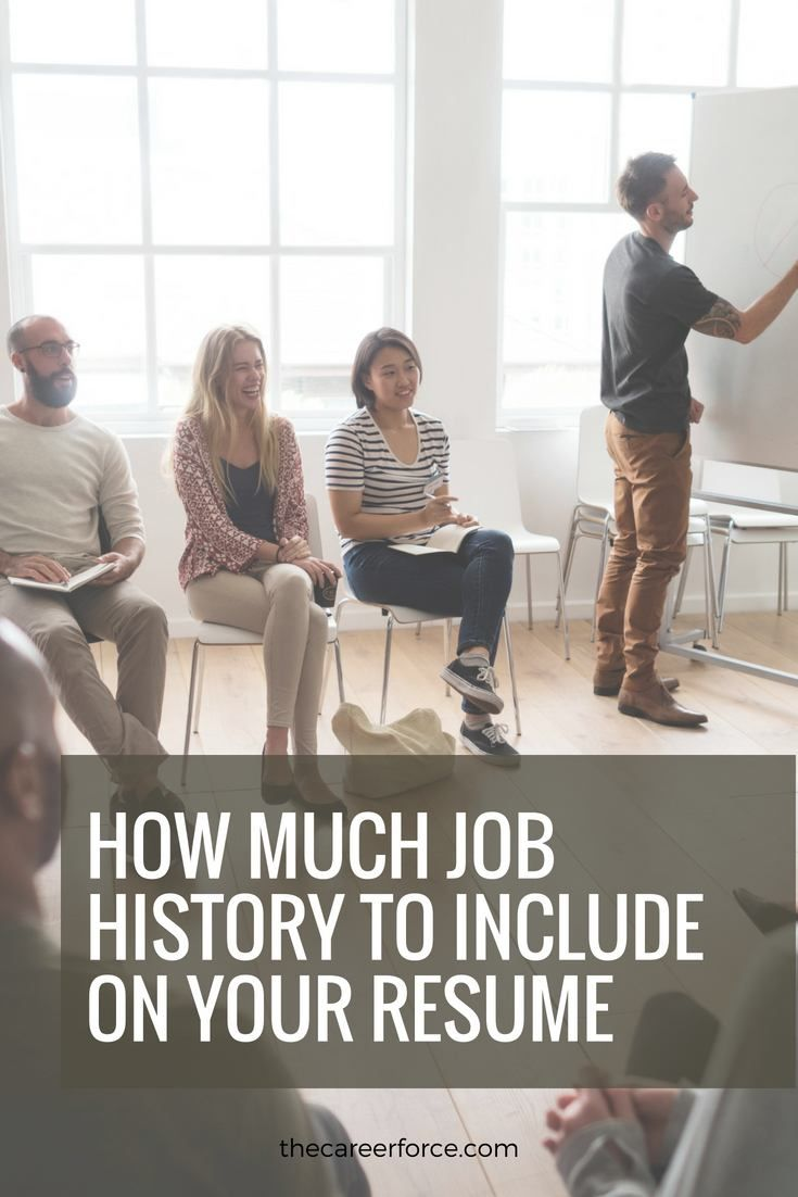 How much job history should be on my resume with images