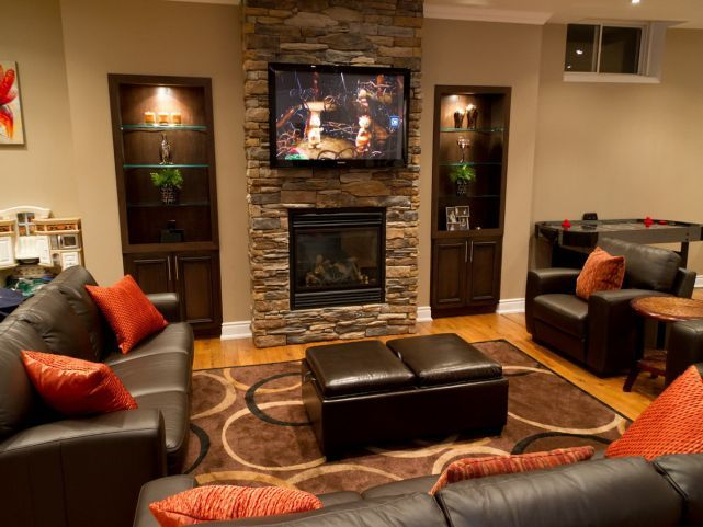 small basement ideas fireplaces basement basement family rooms rh pinterest com