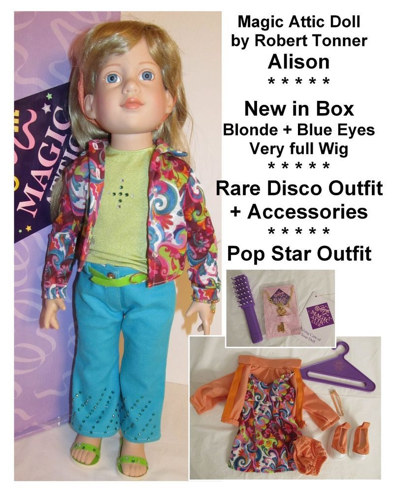 Magic Attic Alison Doll By Robert Tonner Pop Star Disco Outfit Lot New In Box Tonner Disco Outfit Pop Star Outfits