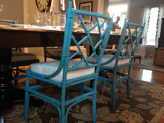 Love The Turquoise Bamboo Dining Room Chairs