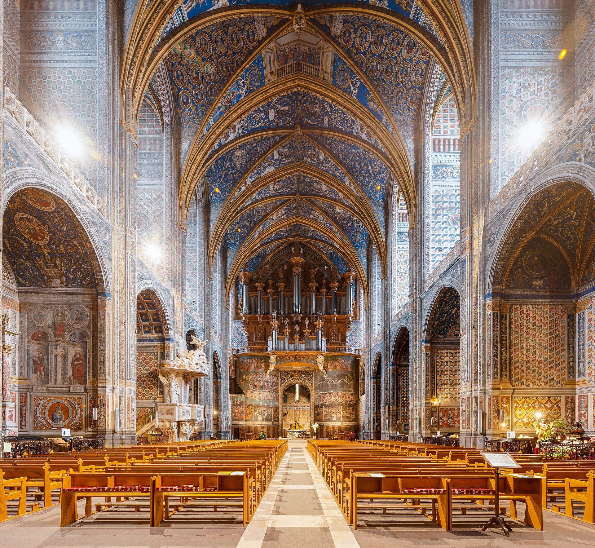 Interieur de SainteCécile kathedraal van Albi. Sainte