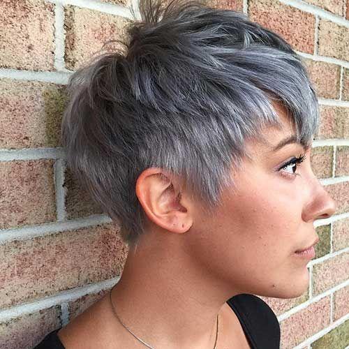 35 Good Short Grey Hair Ideas