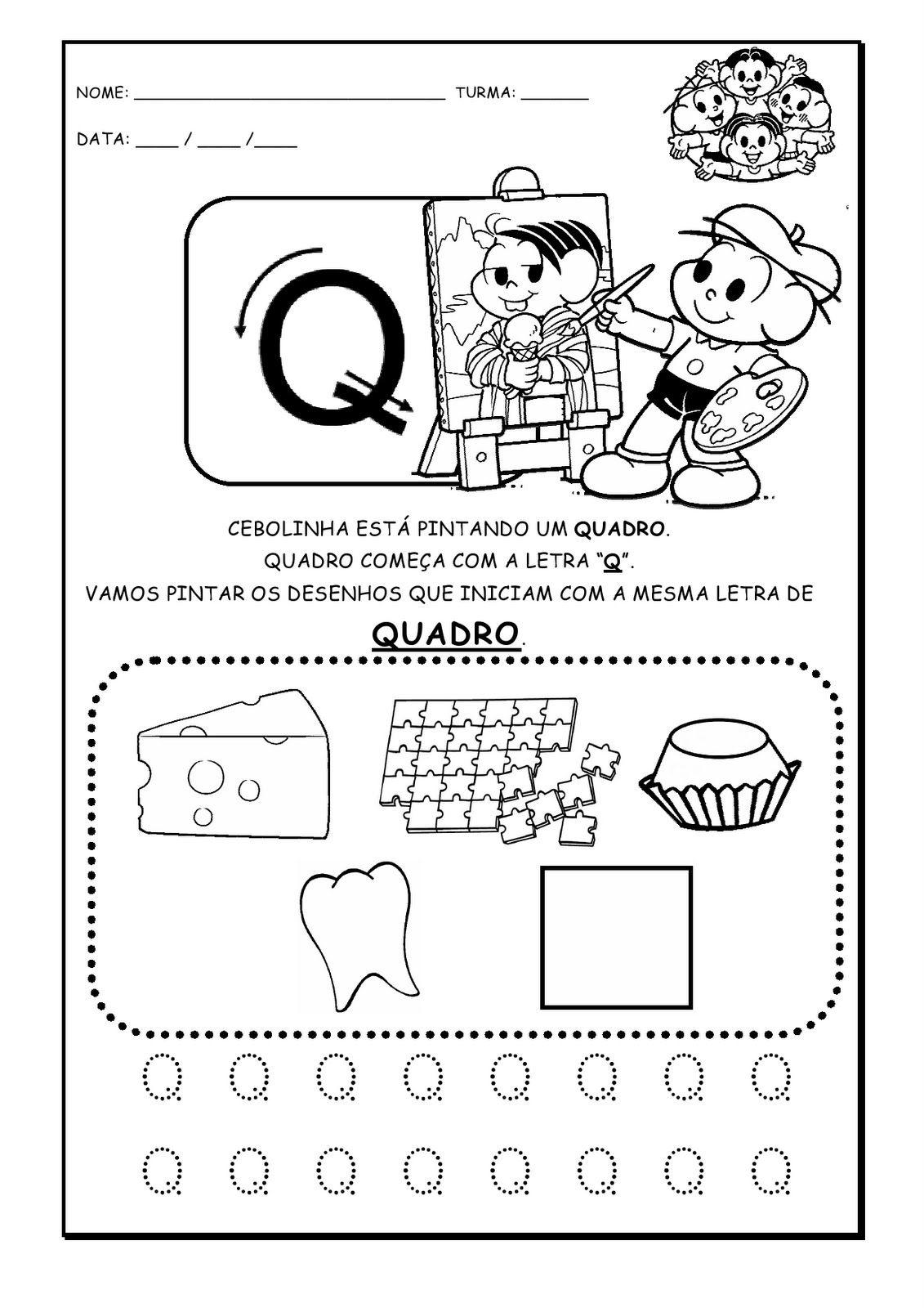 Pin De Cintia Facina Em Turma Da Monica Educacao Infantil