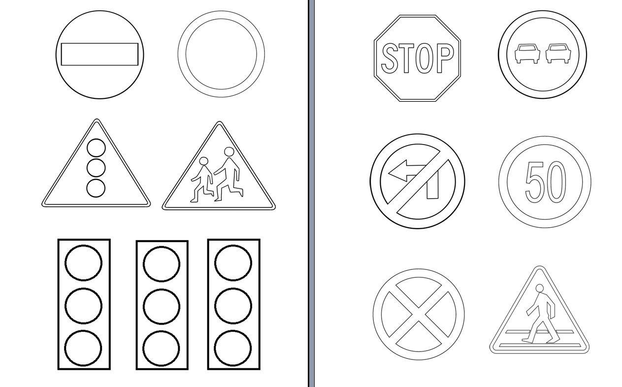 Znaki Drogowe Do Kolorowania Znak Drogowy Kolorowanki I