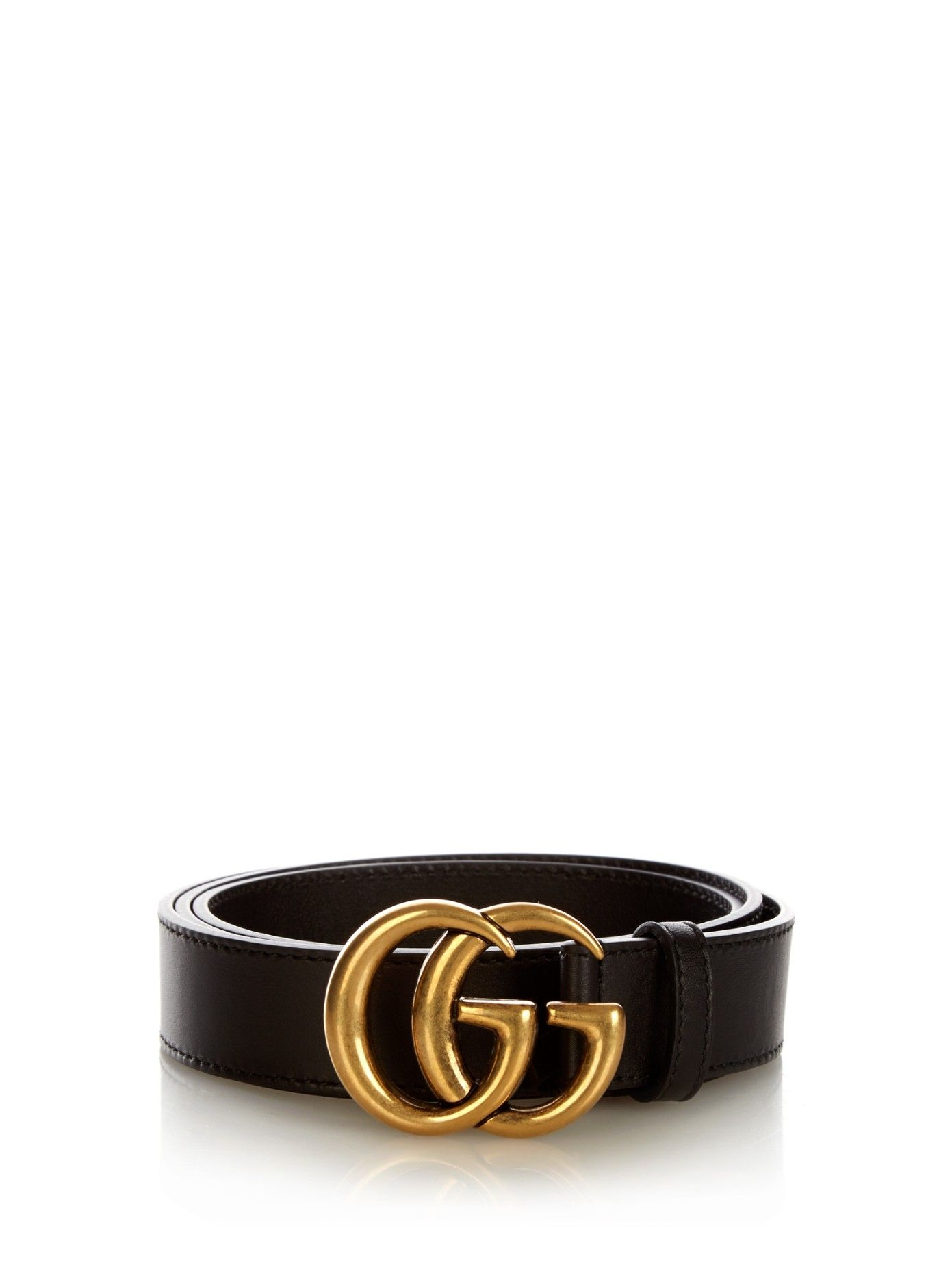18d4d1fa3c GG-logo leather 3cm belt | Gucci | MATCHESFASHION.COM US | Spring ...