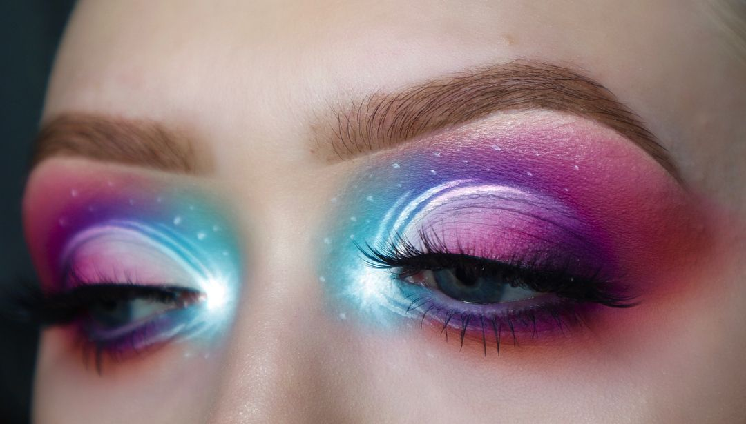 40326fa2a15 SERIOUS GALAXY VIBES 🌌 Cosmic eye makeup by taylorp_mua featuring GWA's  Merbabe false eyelashes #gwalondon