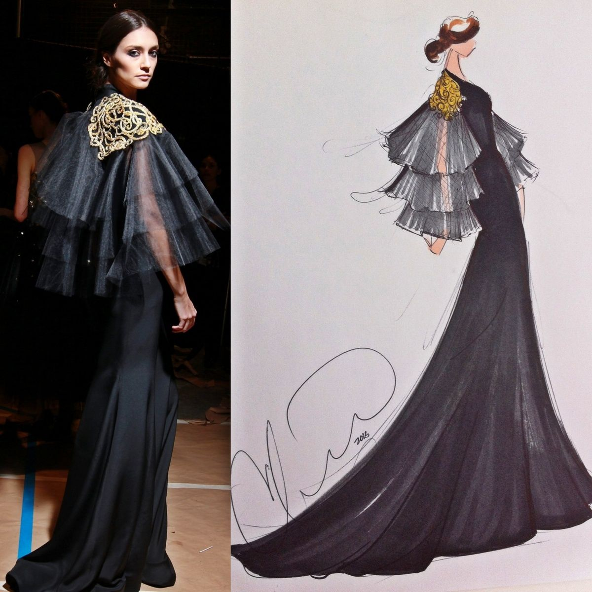 Sketch By Christian Siriano A Look From Fall 2013