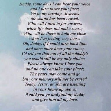 happy birthday daddy i miss you