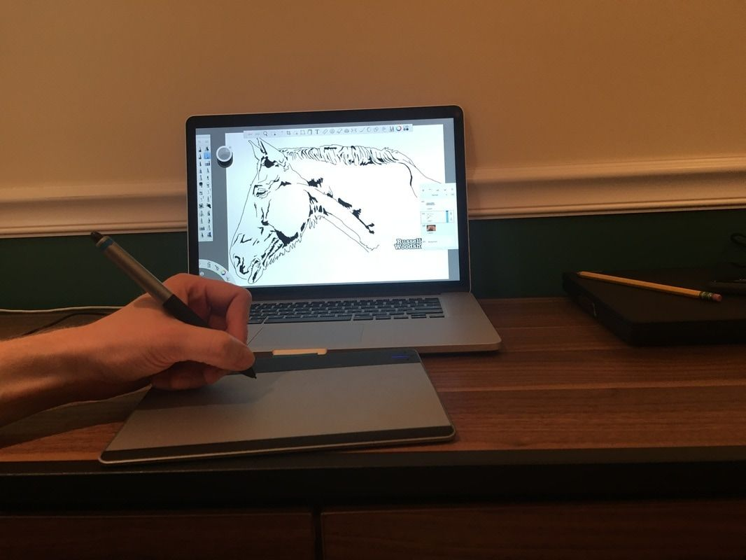 How to draw a scroll saw pattern with Sketchbook Pro.