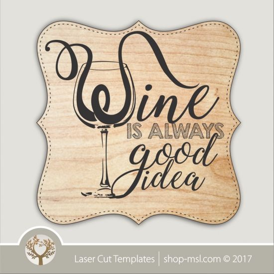 product funny wine bar sign template for laser cut and engraving