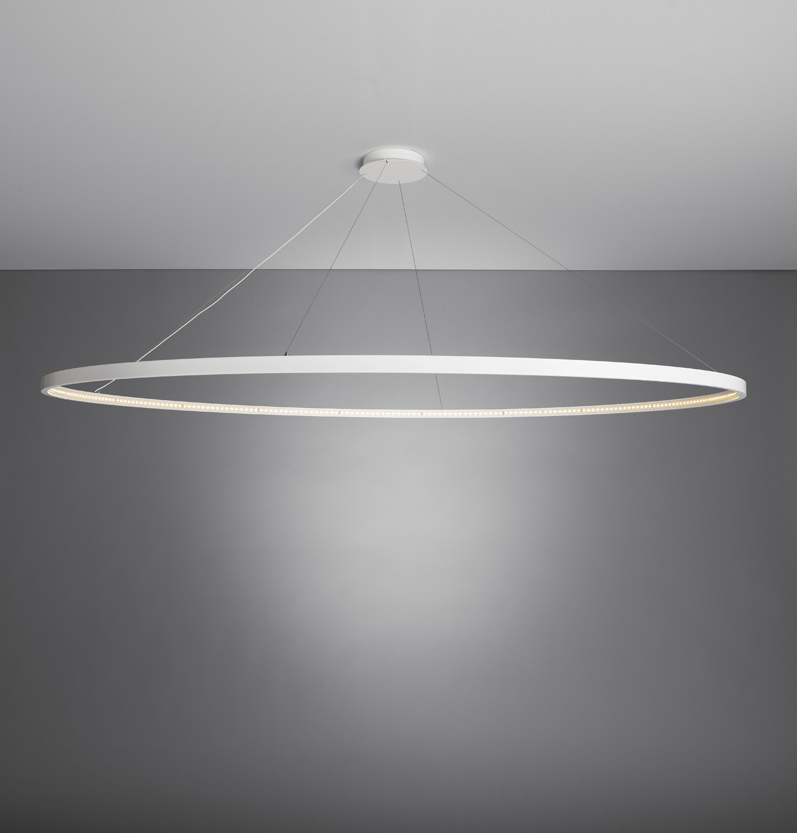 Luminaire Pendant Led Direct Indirect Light Steel Pendant Lamp Omega 200 By