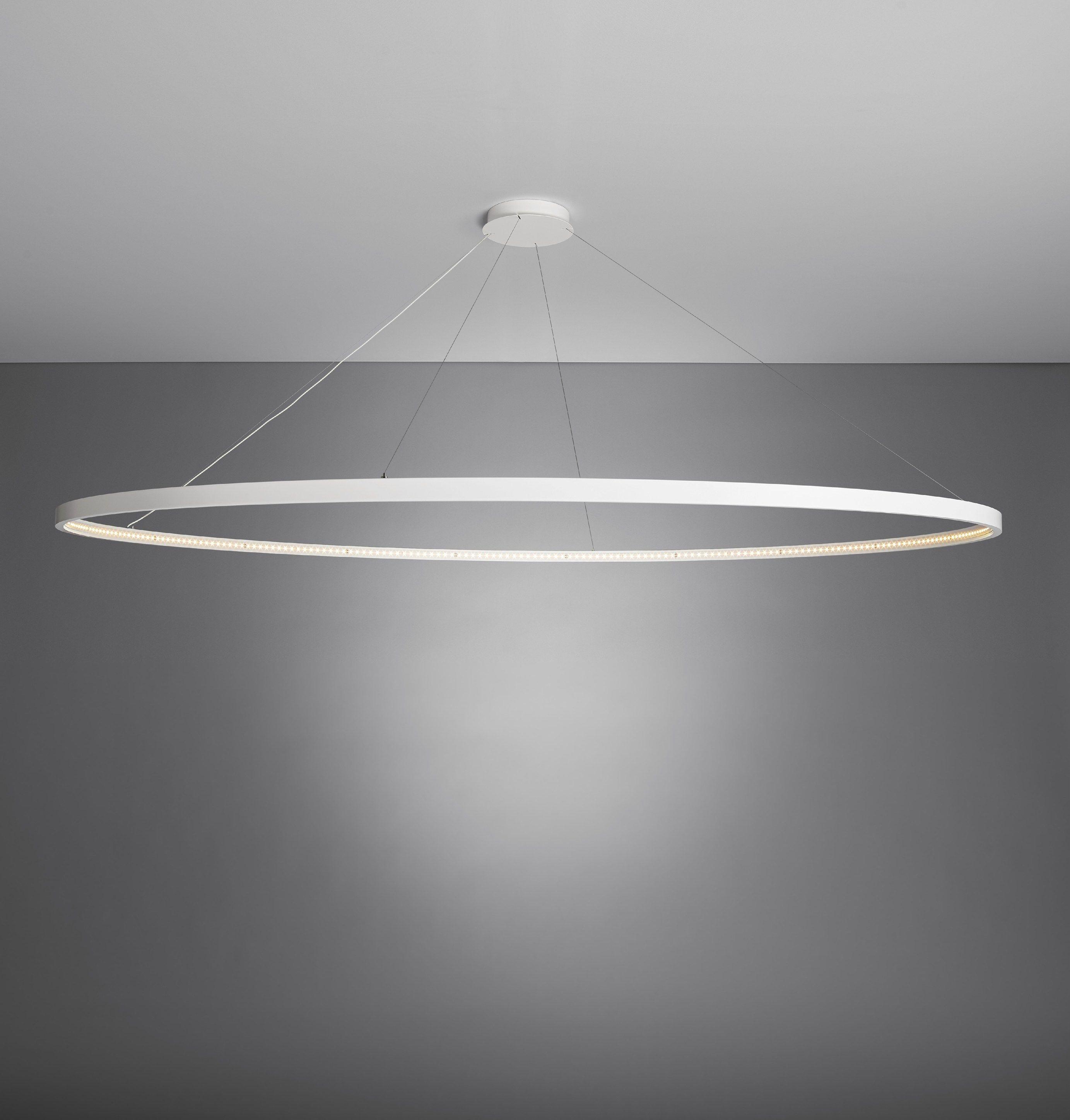 Lighting Direct: LED DIRECT-INDIRECT LIGHT STEEL PENDANT LAMP OMEGA 200 BY