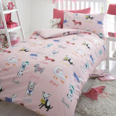 Bluezoo Children S Pink Dogs Duvet Set At Debenhams