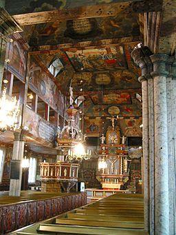 Interiör från Habo kyrka, december 2004.