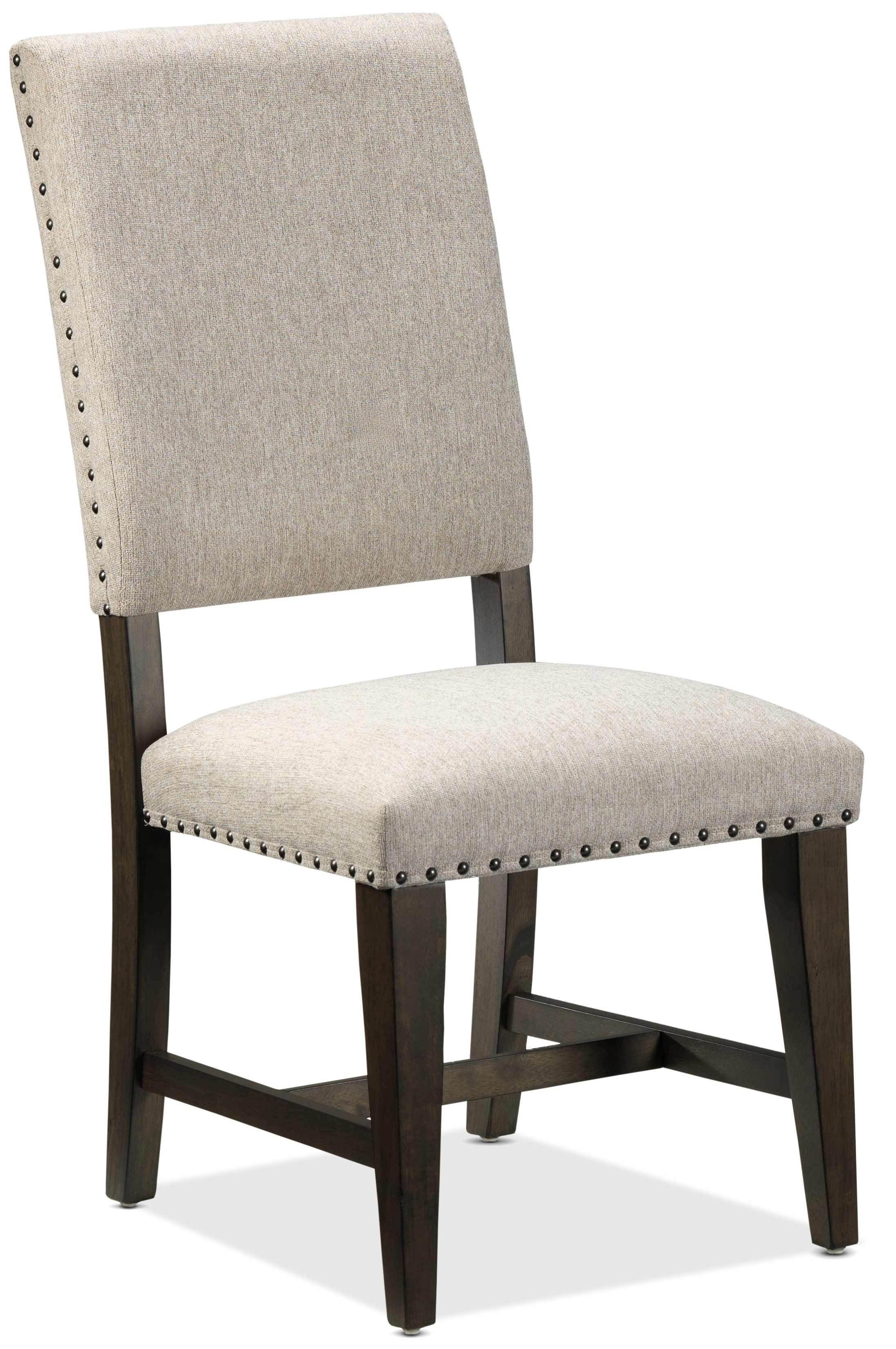 Flanigan Dining Chair Beige And Espresso With Images Dining