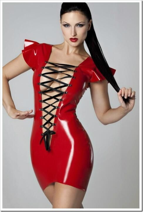 skirt latex Carla translucent