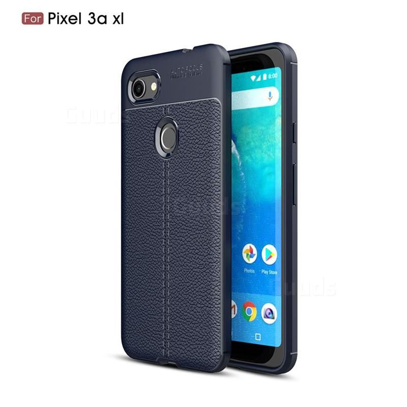 Luxury Auto Focus Litchi Texture Silicone Tpu Back Cover For