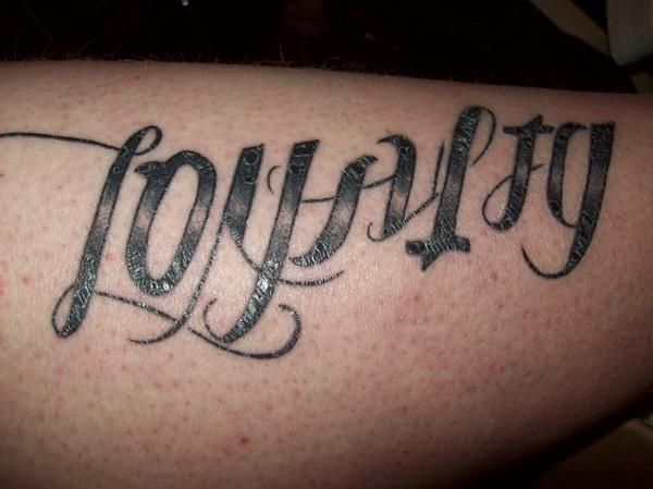 Home Images Ambigram Loyalty Betrayal