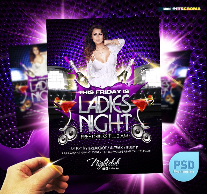 Night Club Concert / Party Flyer / Poster template | Flyer ...