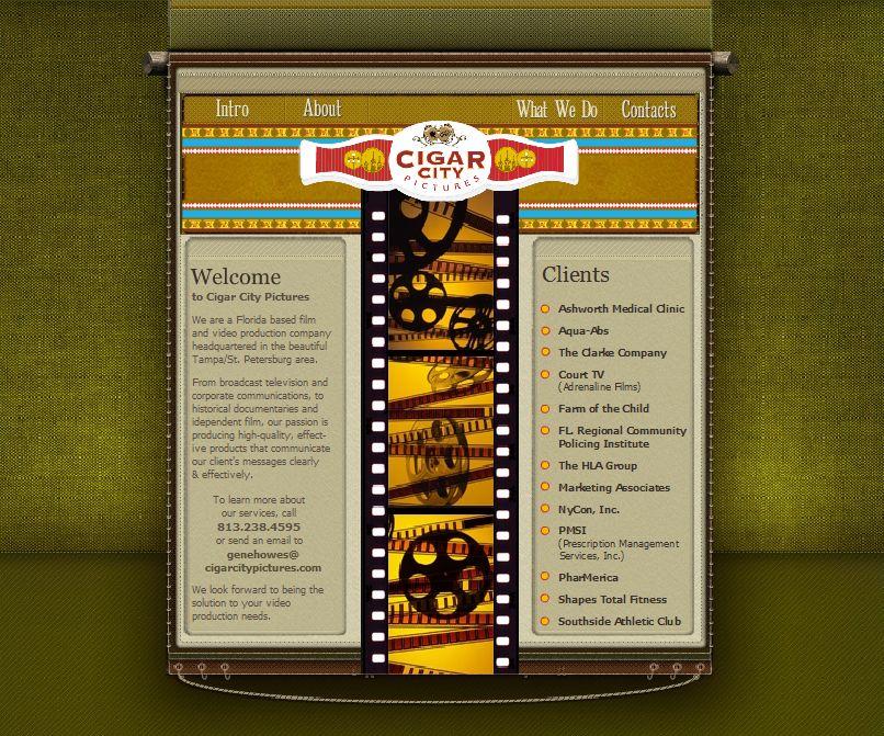 A Unique Layout That Represents The Style Of Cigar City Pictures Pictures Portfolio Web Design Portfolio Design Web Design