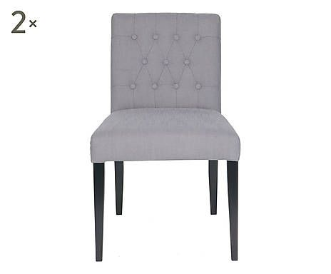 Sedie Tessuto ~ Set di sedie in legno e tessuto amelie cm sedie