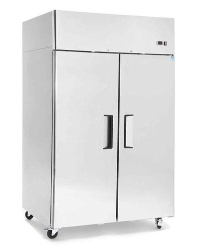 Atosa Freezer Reach In Solid Door Top Mount 2 Section Mbf8002 Two Door Refrigerator Locker Storage Stainless Steel Doors