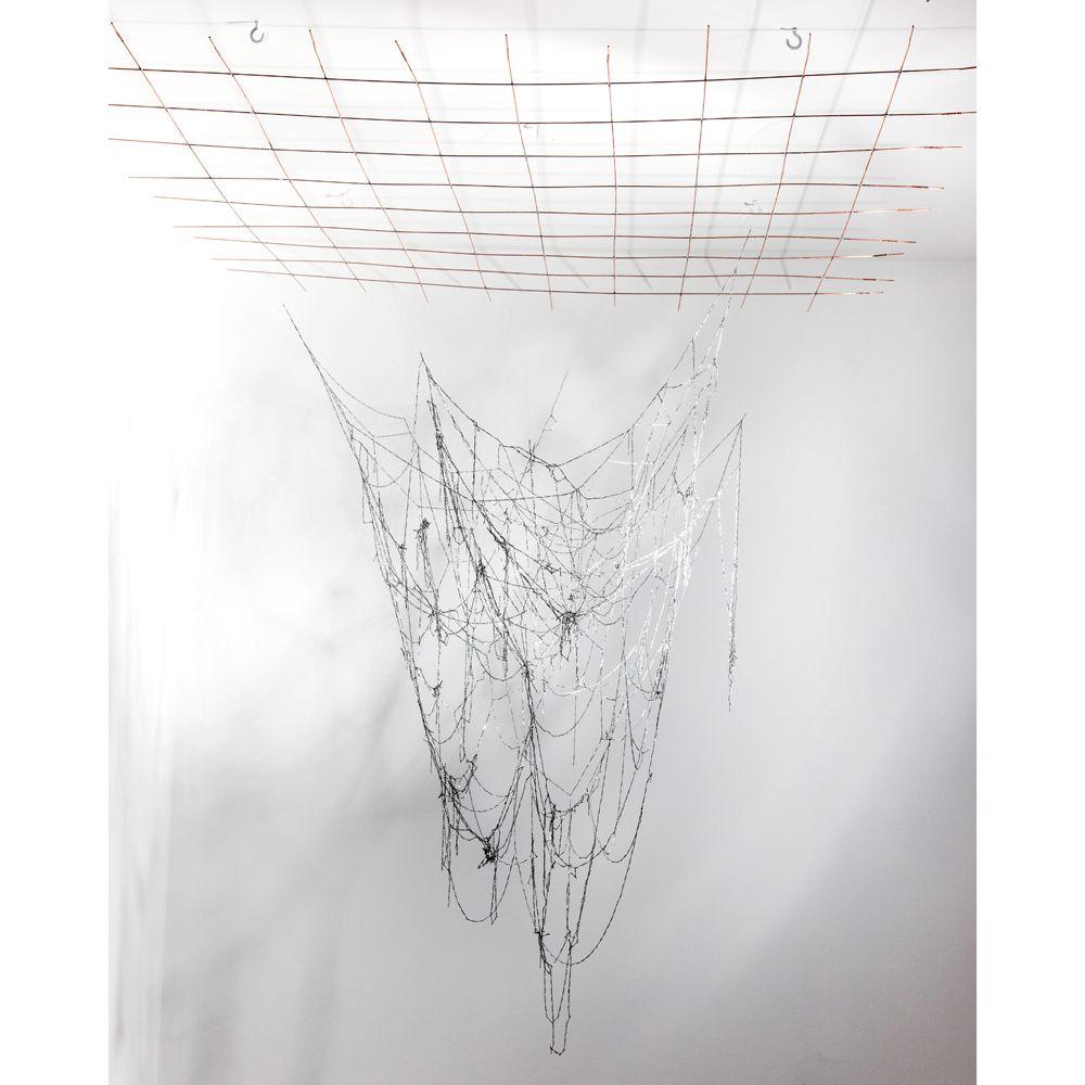 "Erica Muralles Hazbun, ""Process VII"", 2013, Series: Processes, Interlocking staple chains, Variable dimensions."