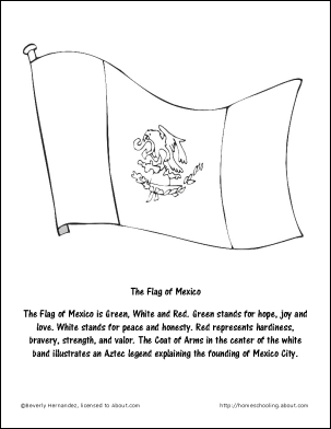 Flag Of Mexico Coloring Page