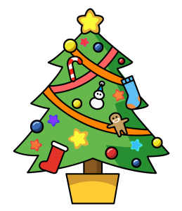 Image result for christmas tree cartoon