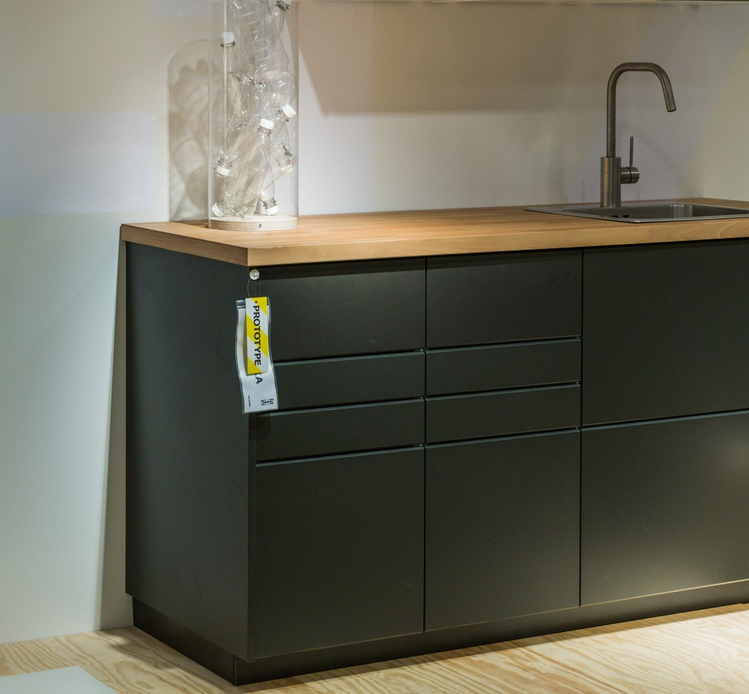 Ikea S New Kitchen Cabinets Are Made With Recycled Plastic Bottles Recycled Kitchen Ikea New Kitchen Plastic Kitchen Cabinets