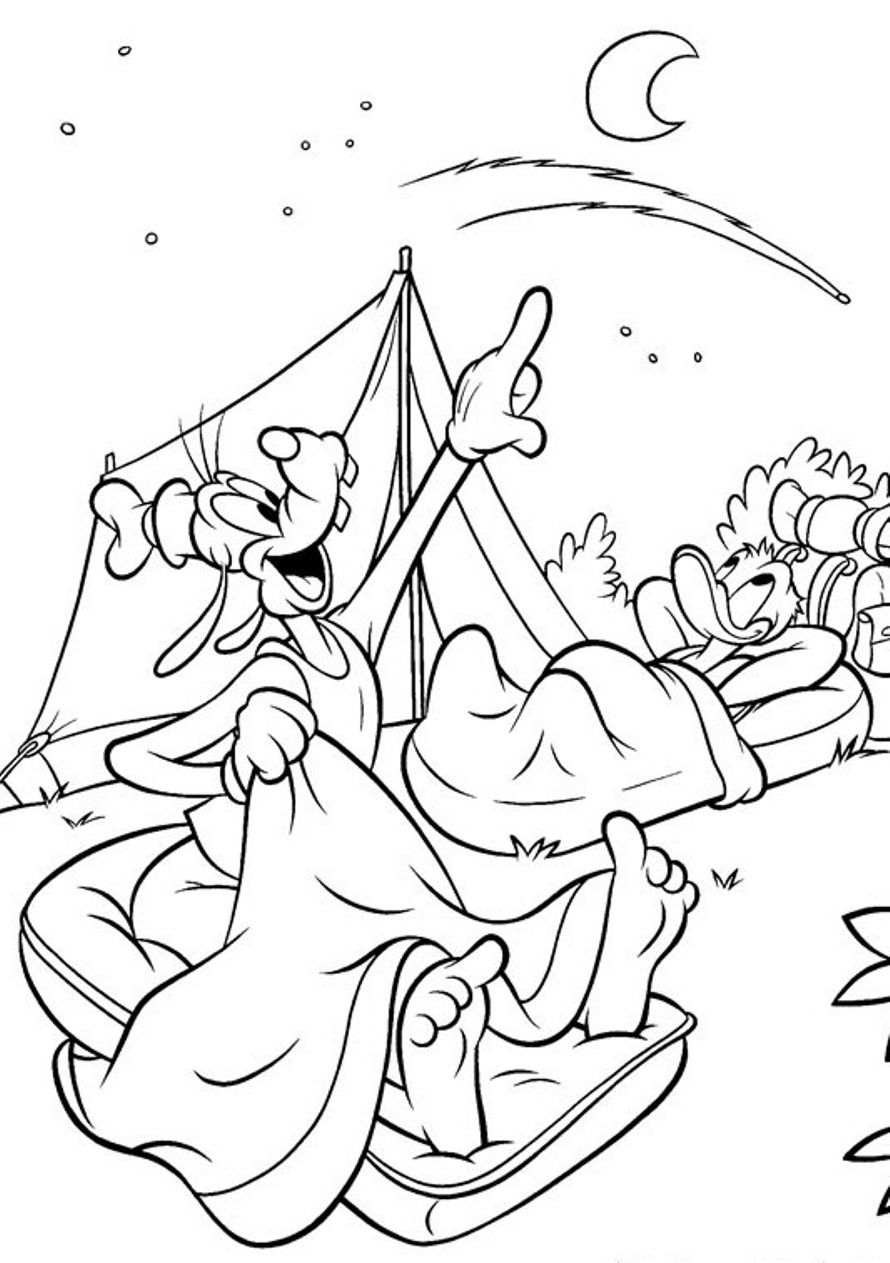 Camping Coloring Pages To Print With Archives | Coloring For Kids ...