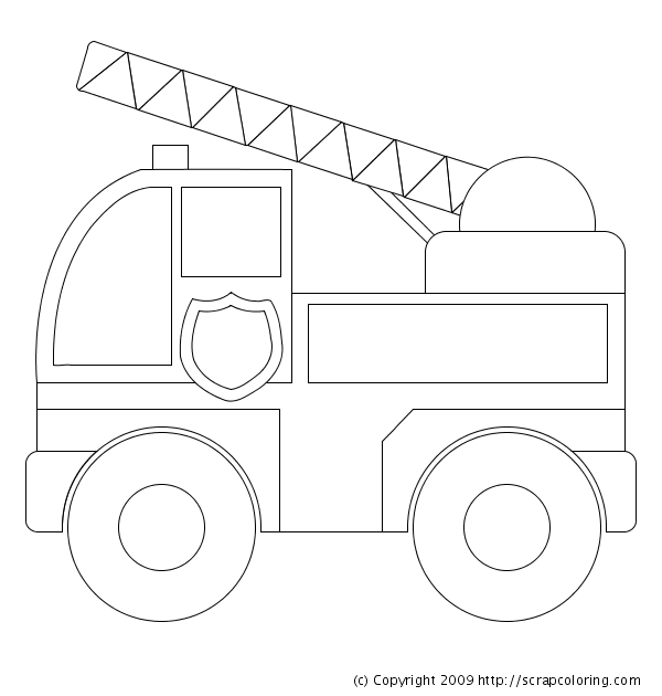 Image Detail For Preschool Fire Truck Coloring Pages